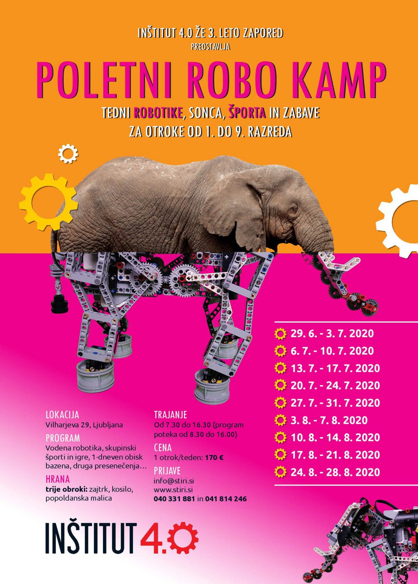 poletna robotika 2020 plakat