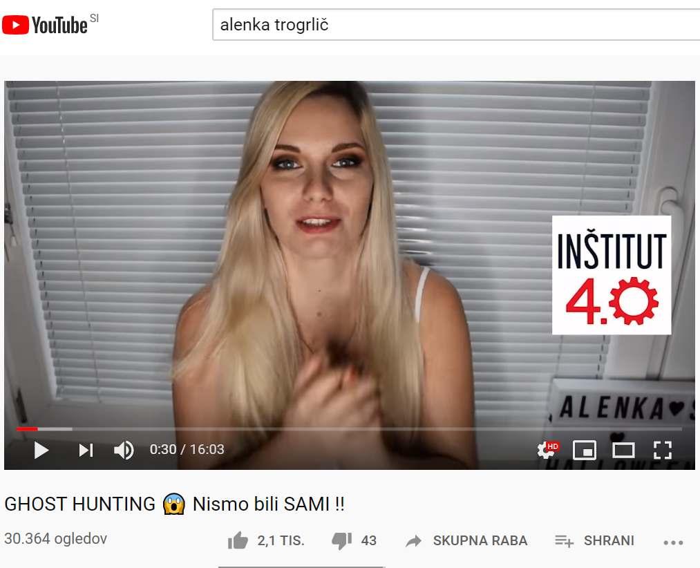 """YOUTUBE-arji, INŠTITUT 4.0 ter """"lov na duhove"""""""