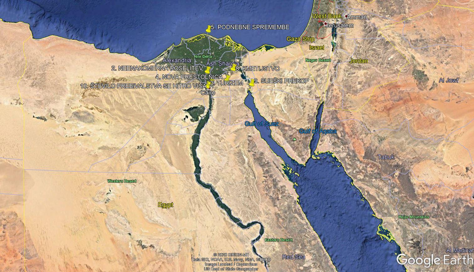 Geografija in uporaba Google Earth